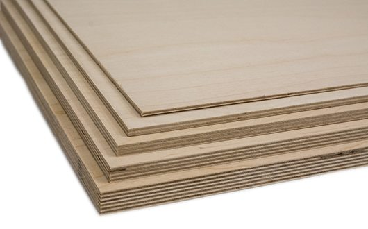 You'll find plywood with birch veneer and birch inside layer in stock at KenCraft.